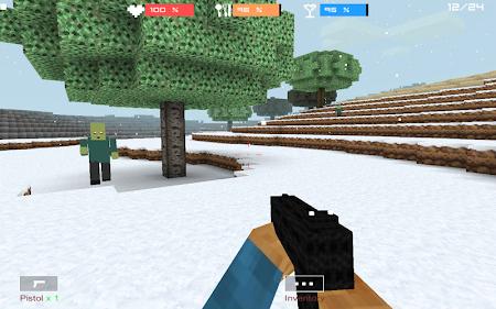Cube Gun 3D : Winter Craft 1.0 screenshot 44143