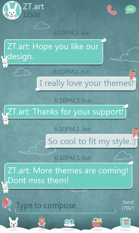 GO SMS Pro Balloon ThemeEX - screenshot