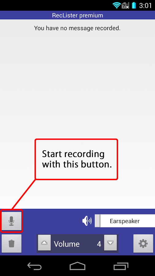 Simple Recorder - RecLister- screenshot