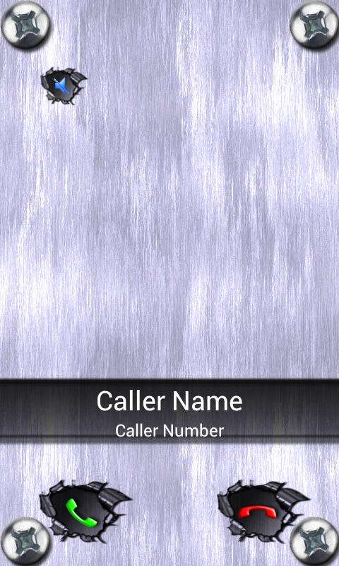 BIG! Caller ID THEME Metal - screenshot