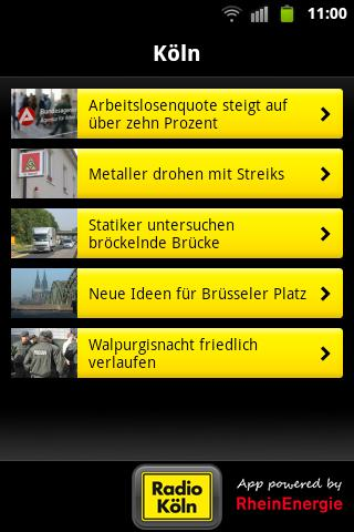 Radio Köln- screenshot