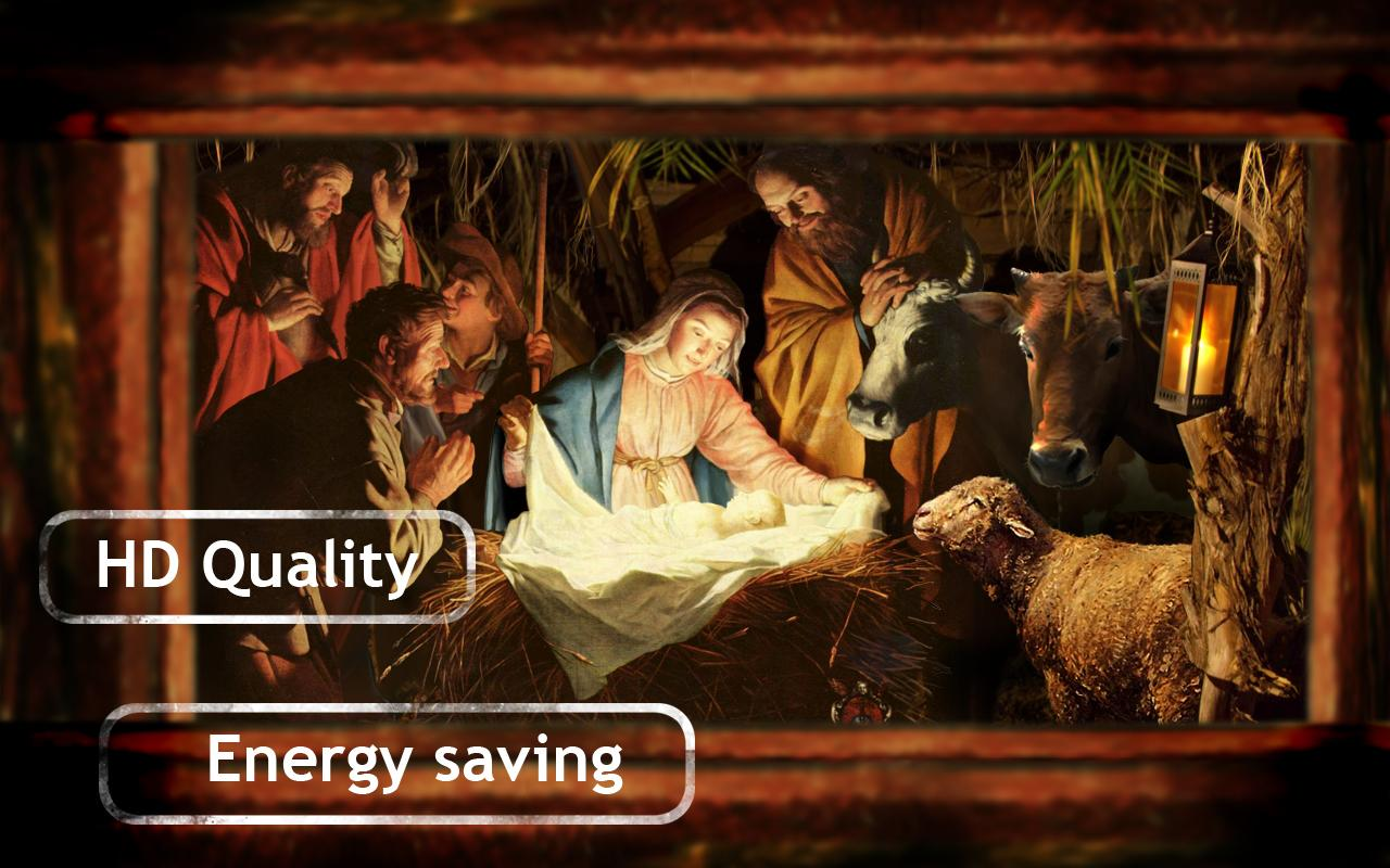 Jesus in Manger Live Wallpaper - screenshot