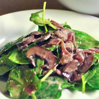 Sautéed Mushroom Spinach Salad