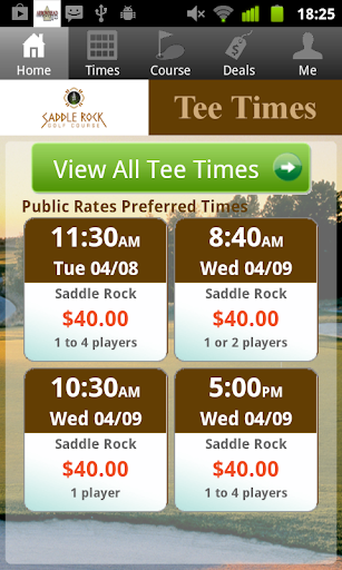 Saddle Rock Golf Tee Times