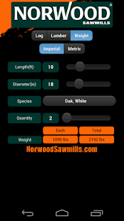 Norwood Sawmills Calculator- screenshot thumbnail