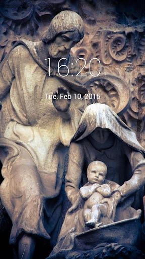 SacredFamilyStatue Lock Screen
