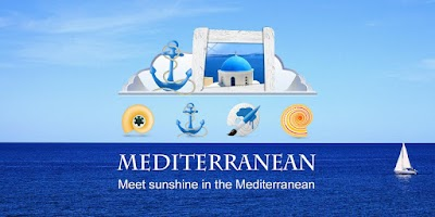 Screenshot of Mediterranean GOLauncher Theme