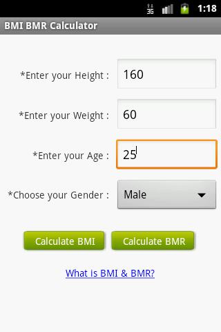 BMI BMR Calculator