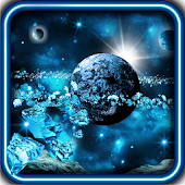 Space Ice World live wallpaper