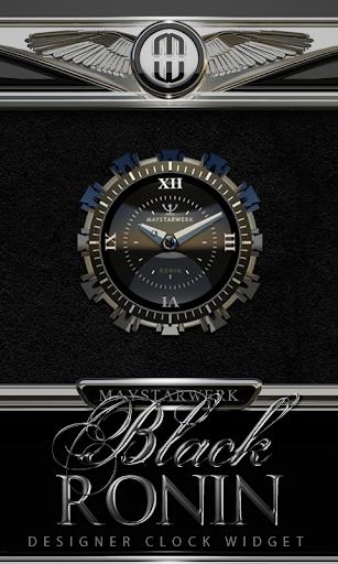 Clock Widget Black Ronin