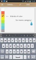Screenshot of Scroll Memo Note Widget