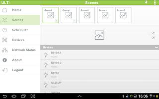 Screenshot of ULTI Home Control