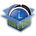 Circle alarm clock. BOX. LITE. icon