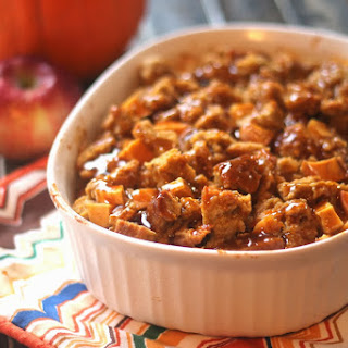 Pumpkin Beer Bread Pudding