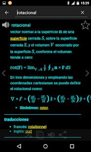Diccionario español: miniatura de captura de pantalla