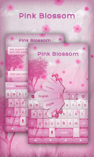 Pink Blossom GO Keyboard Theme
