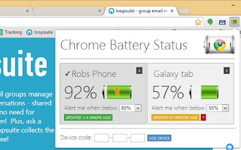 Chrome Battery Status