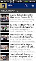 Screenshot of St. Edward's University Mobile