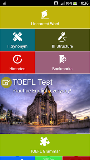 TOEFL Test - English Practice