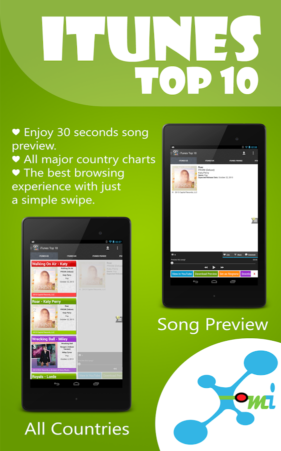 Top Music Charts for Android - screenshot