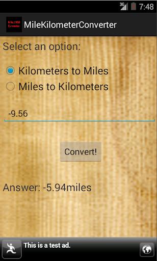 【免費生產應用App】Mile/Kilometer Converter-APP點子