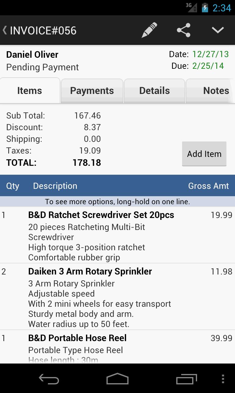 MobileBiz Pro - Invoice App Screenshot