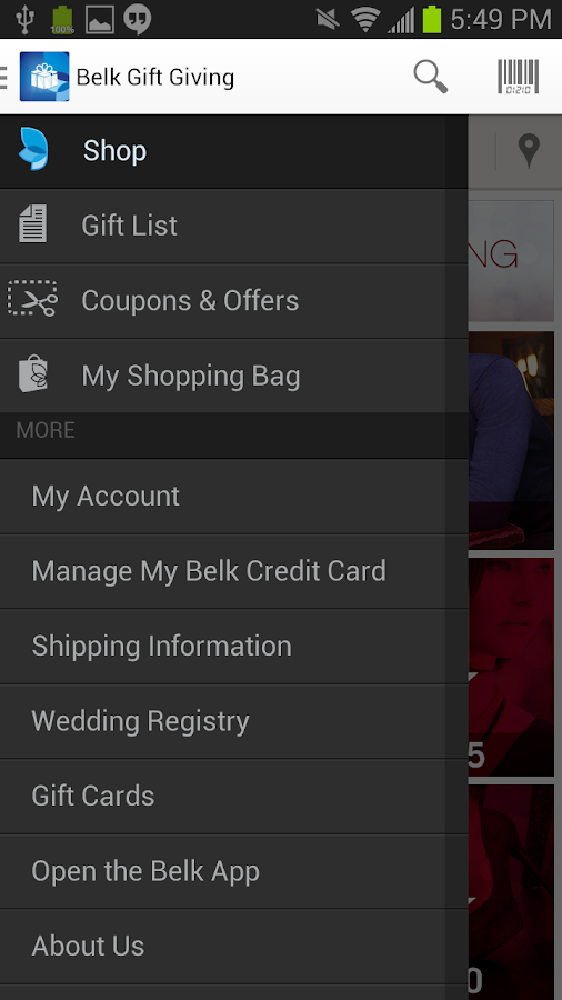 Belk Gifts - screenshot