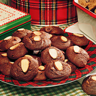 Chocolate-Almond Cookies.