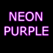 Neon Purple GO SMS Theme