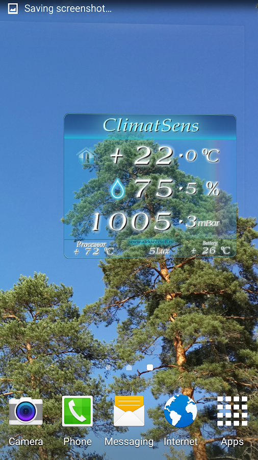 ClimatSens- screenshot