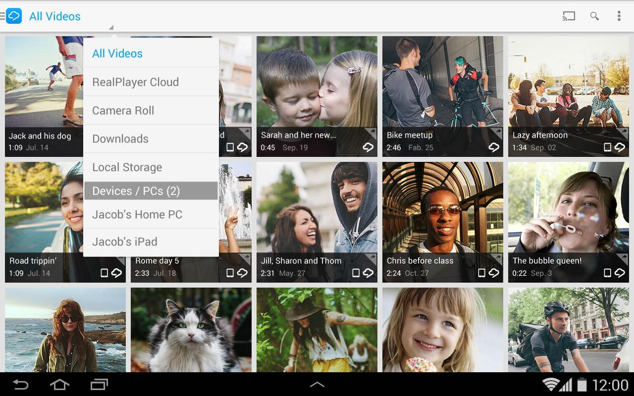RealPlayer Cloud - screenshot