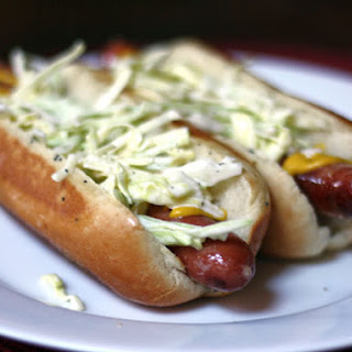 Slaw Dogs with Mustard
