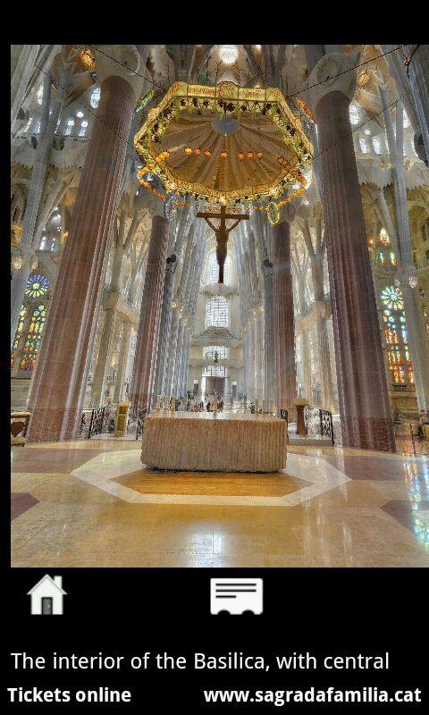 Sagrada Família - Smartphone: captura de pantalla