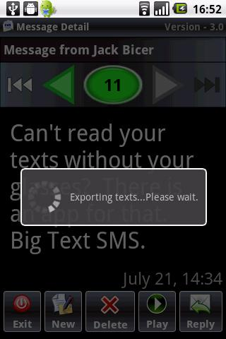 Big Text SMS - screenshot