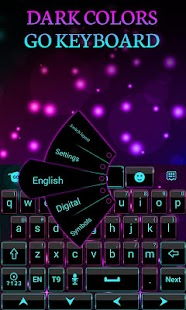 Dark Colors GO Keyboard Theme- screenshot thumbnail