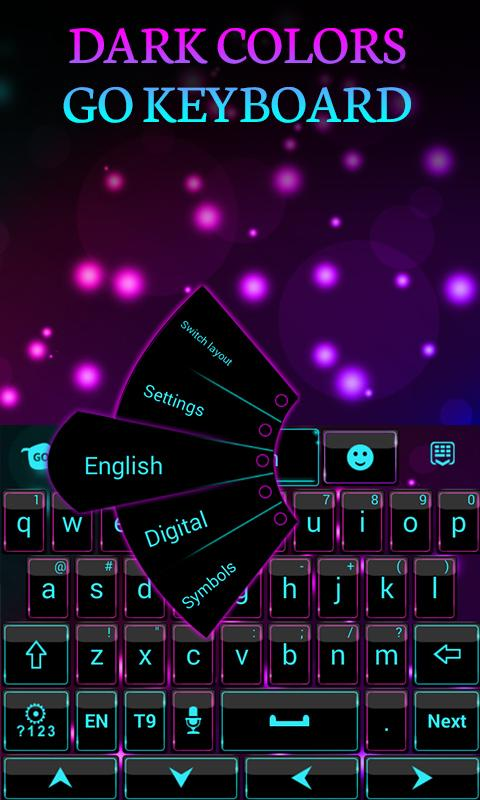 Dark Colors GO Keyboard Theme- screenshot