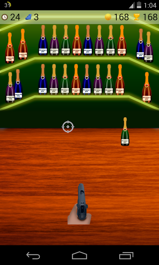 bottle shoot game- screenshot