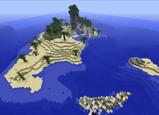 Island of Minecraft -Wallpaper