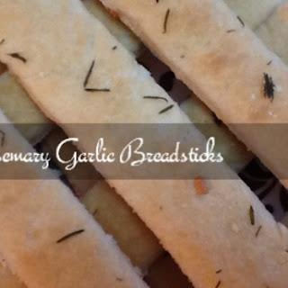 Breadsticks Rosemary Garlic  Homemade Easy Recipe