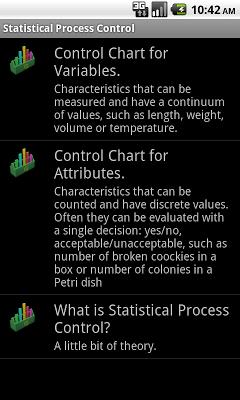 Statistical Quality Control - screenshot