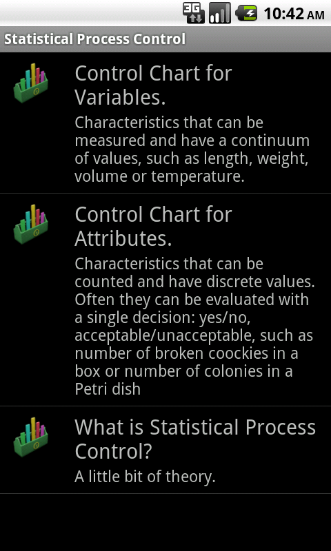 Statistical Quality Control- screenshot