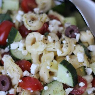Tortellini Greek Pasta Salad.