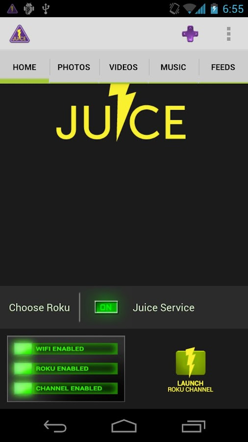 Juice for Roku- screenshot