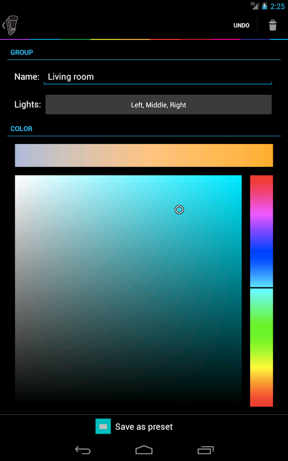 Hue Control - screenshot