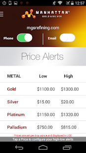 Precious Metal Prices - screenshot thumbnail