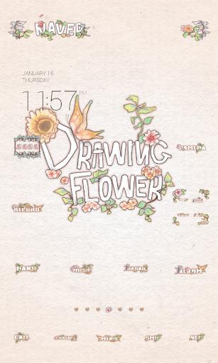 Drawing Flowerドドルランチャのテーマ