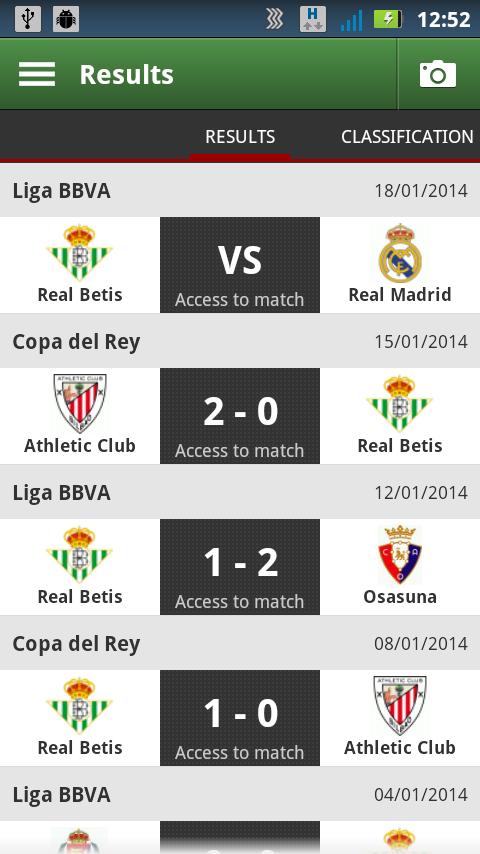 Real Betis Fiebrebetica - screenshot