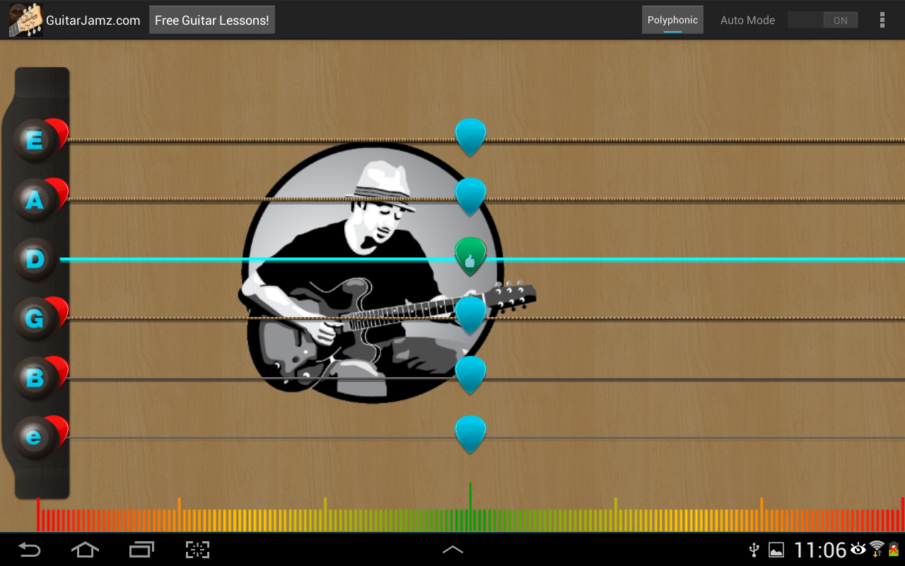 Guitar Jamz Polyphonic Tuner - screenshot
