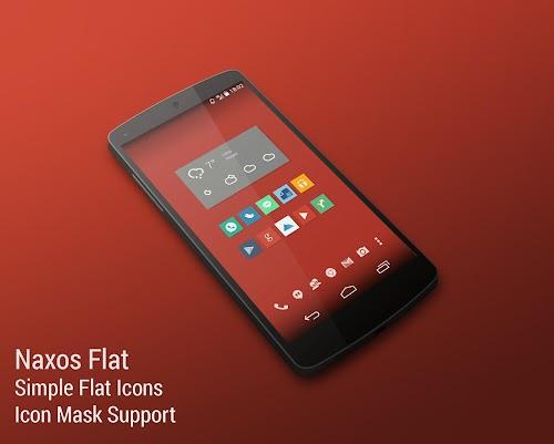Naxos Flat Icon Pack ADW Nova v1.1.0 APK