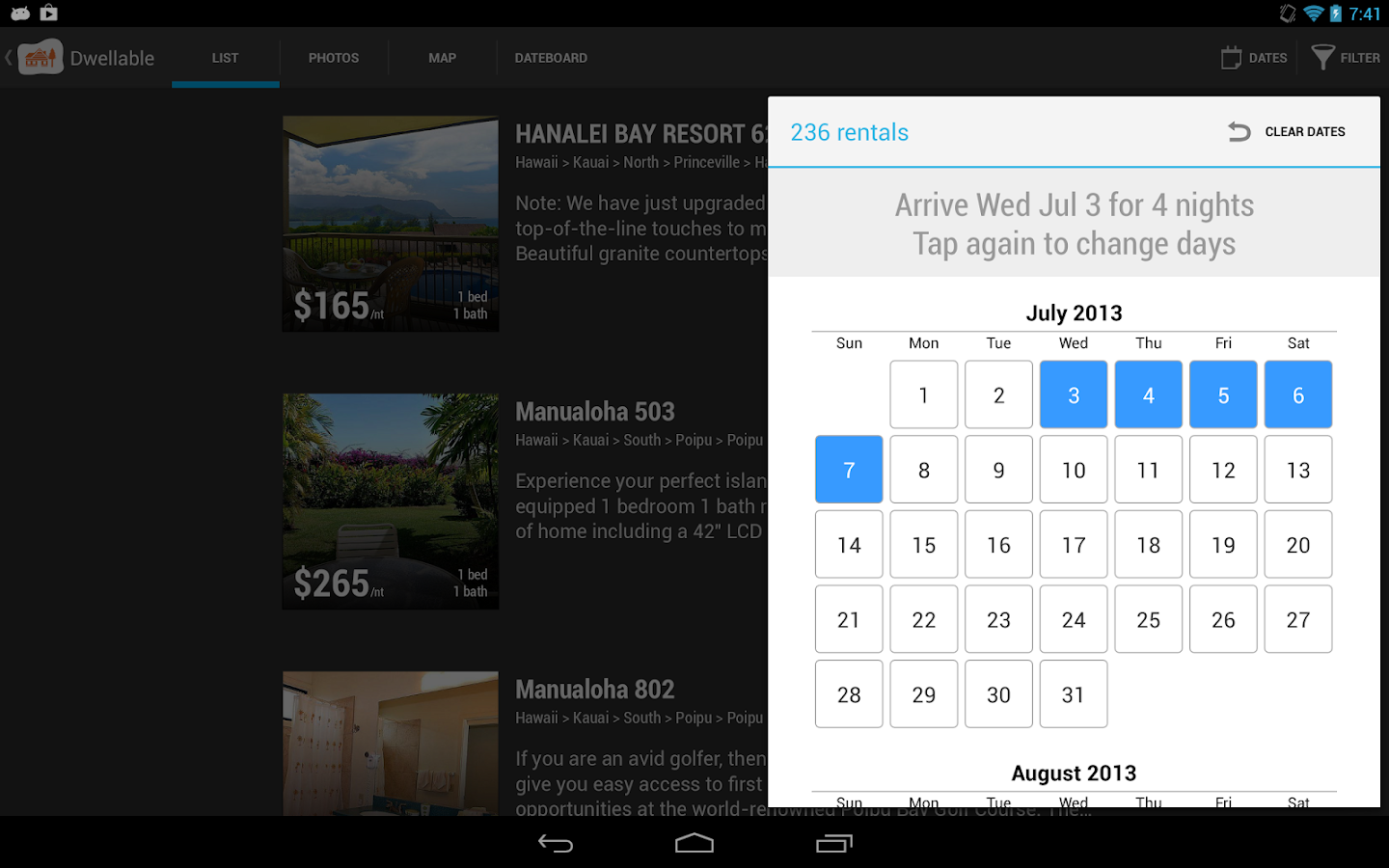 Dwellable Vacation Rentals - screenshot